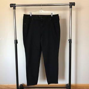 Lane Bryant Women's Size 20 Black Skinny Jeans